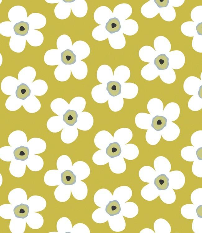 Tafelzeil big flower mustard