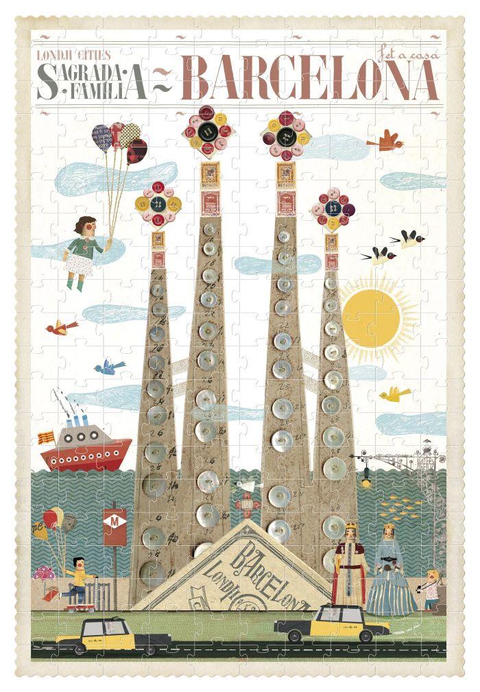 Puzzle visit Barcelona 200 pcs