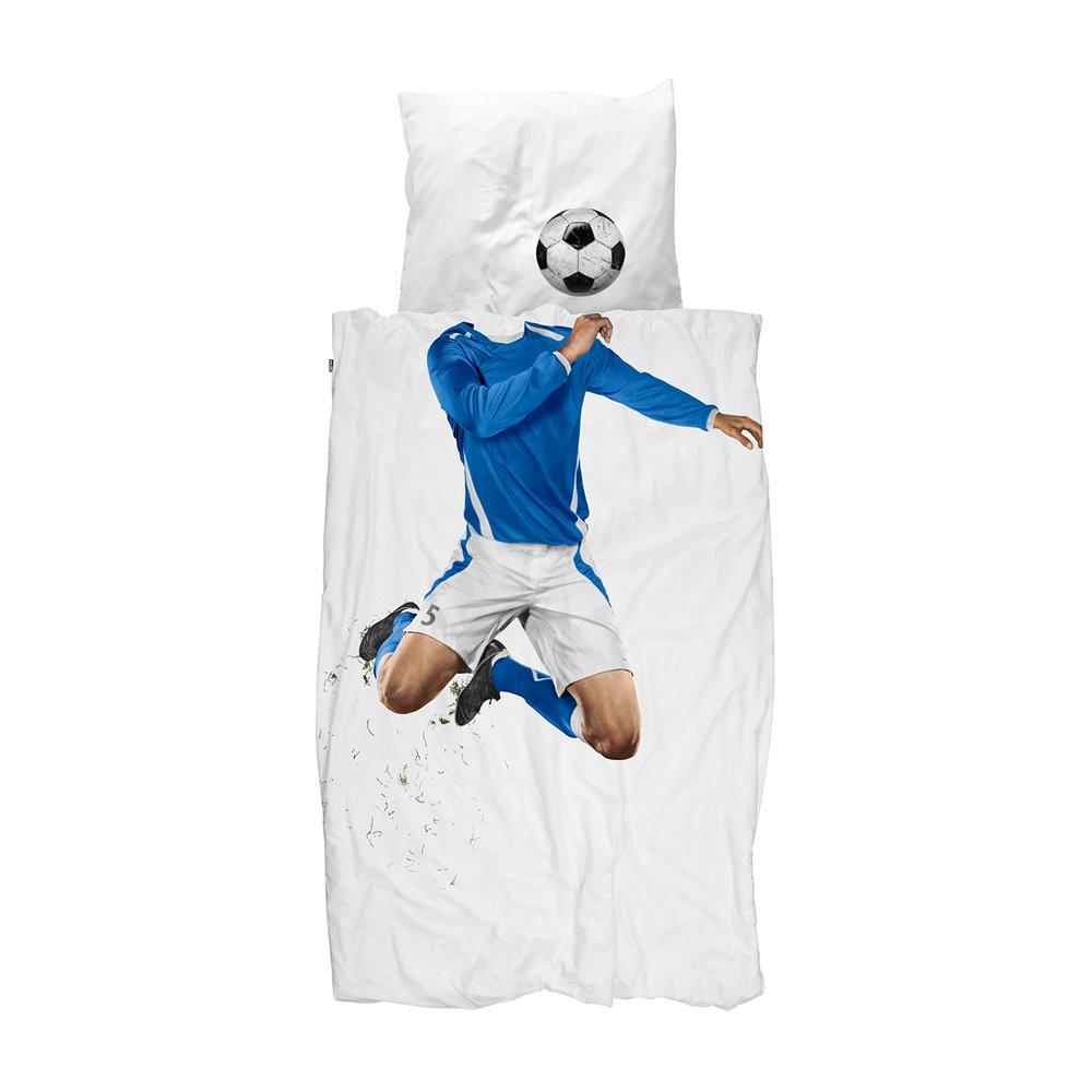 Soccer blue dekbedovertrek 140x200/220