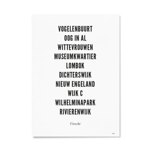 Utrecht stad typo A4
