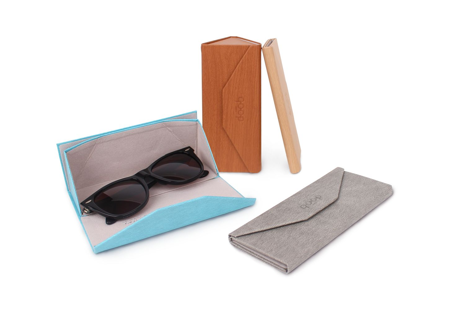 QP Foldable Glasses Case Red