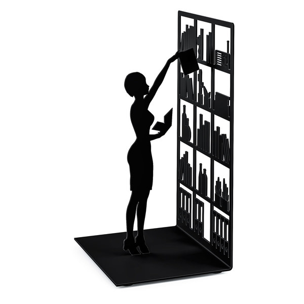 Bookend the library black