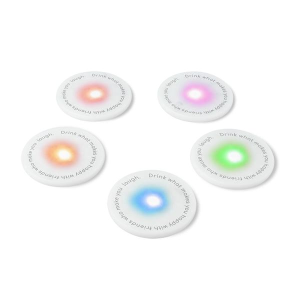 LED coasters UFO set van 5