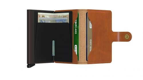 Miniwallet cognac brown