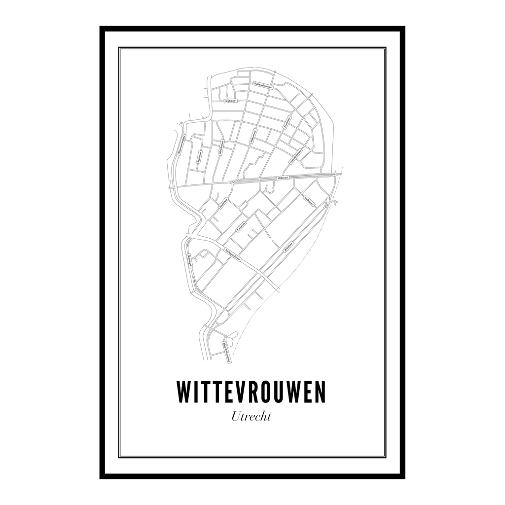 Utrecht Wittevrouwen ansichtkaart