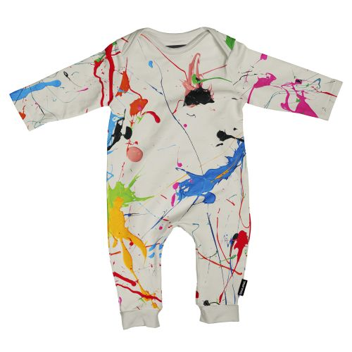 Playsuit splatter maat 68