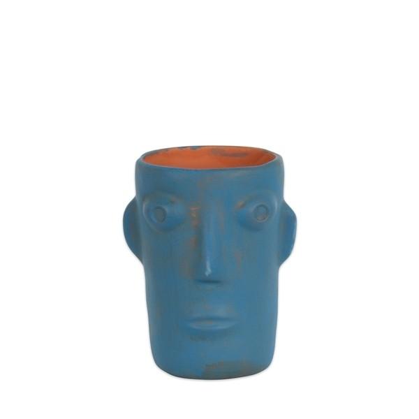 Vase cabeza small blue