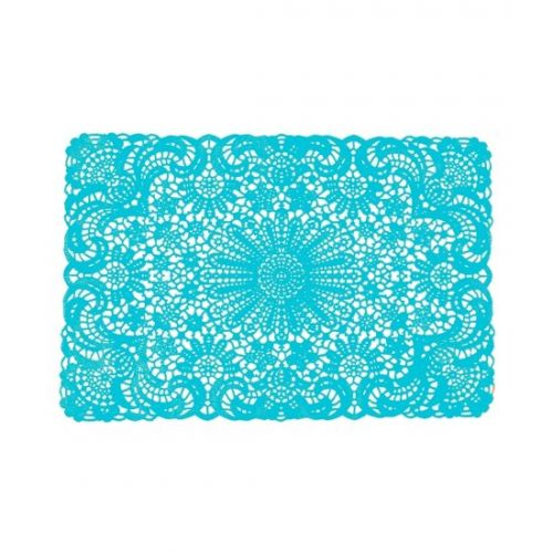 Placemat crochet aqua blue