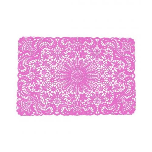 Placemat crochet pink set of 6