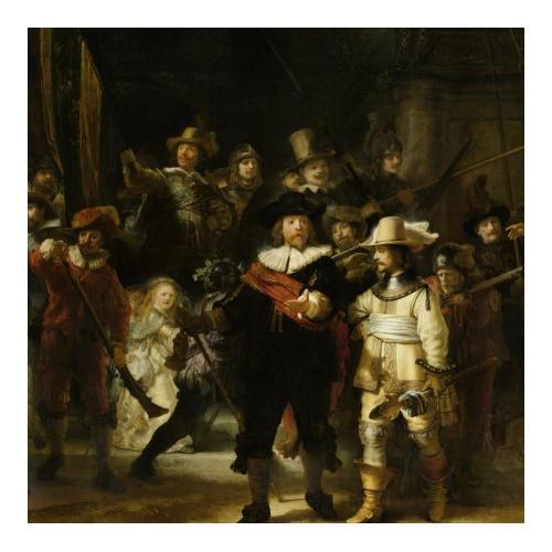 De Nachtwacht - Rembrandt van Rijn 1000