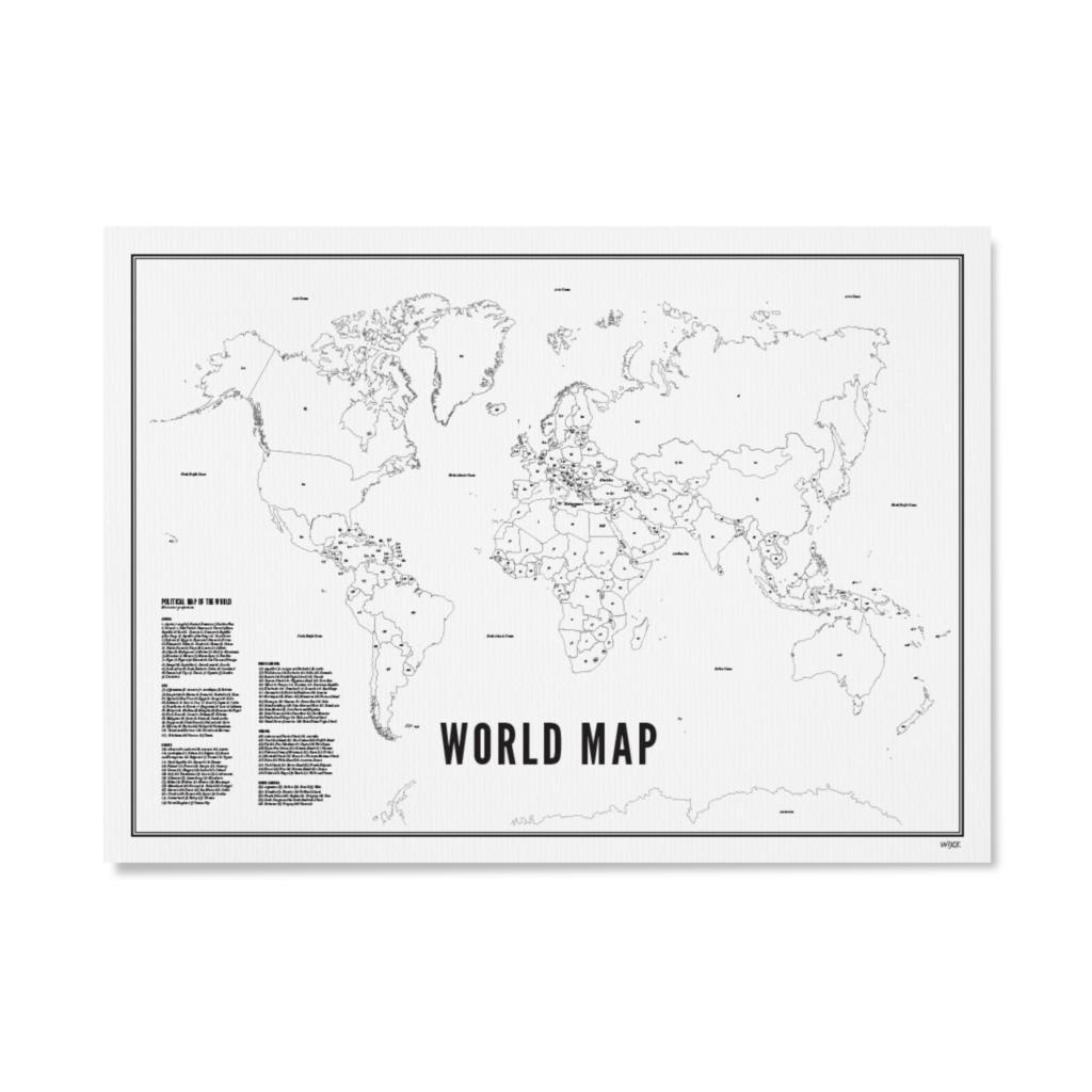 Wereldkaart 30 x 40 cm