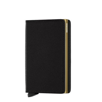 Slim wallet crisple black gold