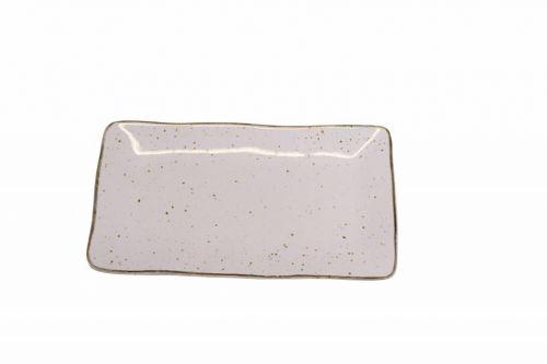 Schaal stone rechthoek medium lichtroze