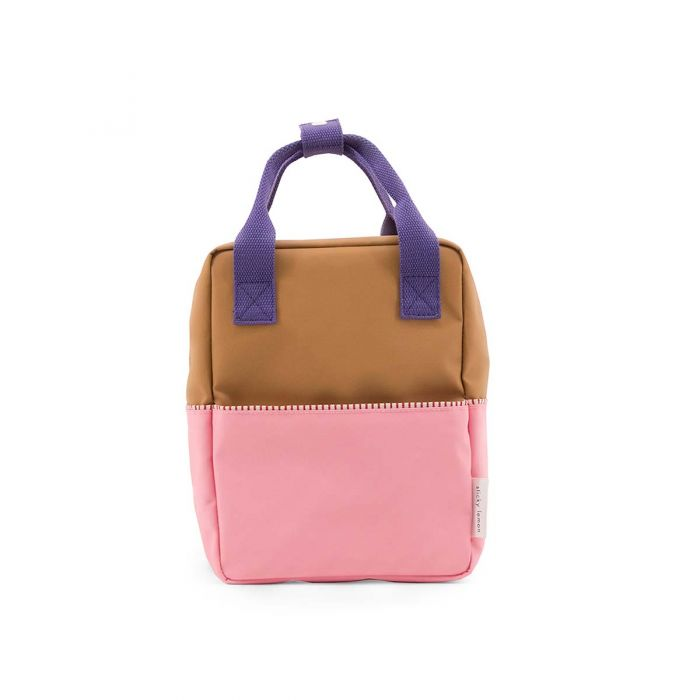 Backpack colour block S gold pink purple