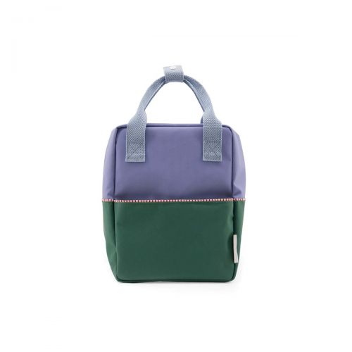 Backpack colour block S purple green blue