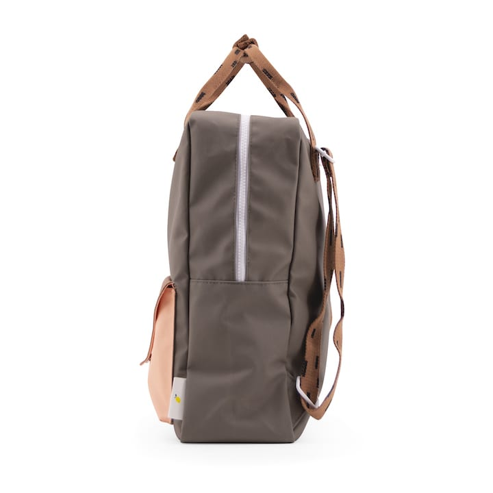 Backpack large sprinkles envelope - moss green + cinnamon brown + lemonade pink