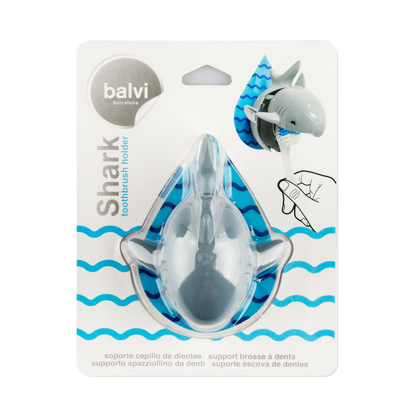 Toothbrush holder shark gray