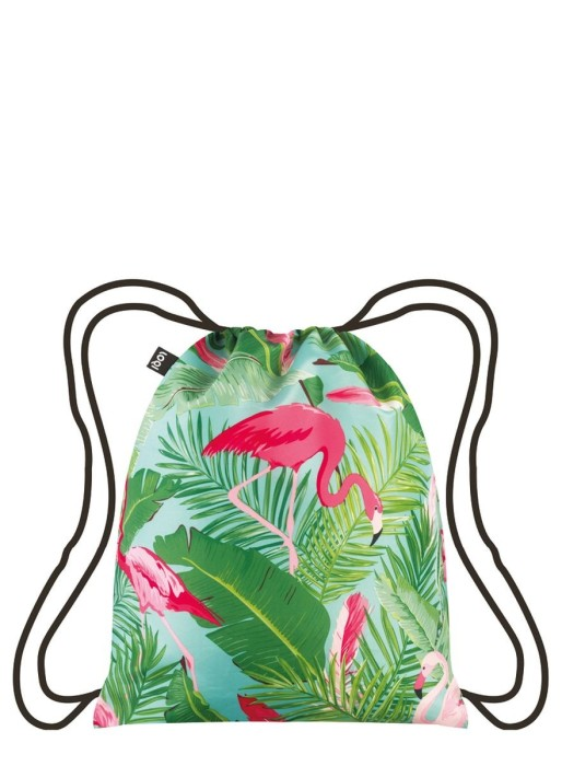 Backpack flamingos