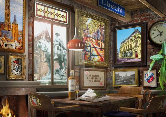 Puzzel Utrechts café