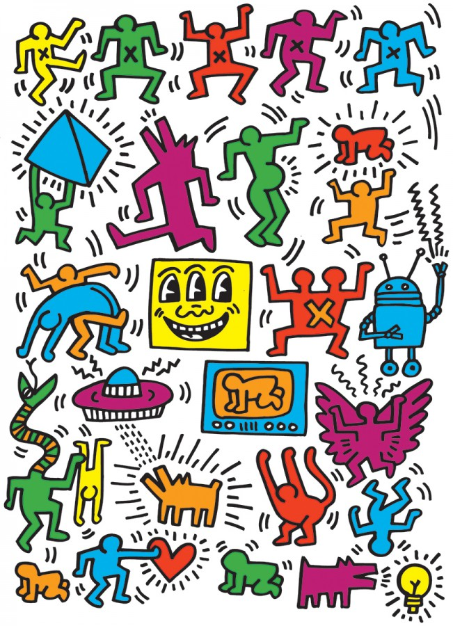 Puzzel - Keith Harring, Collage