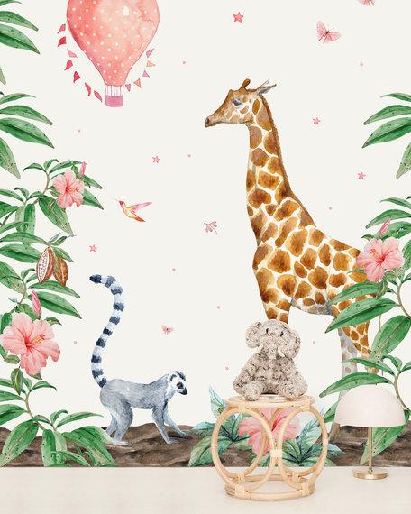 Behang Giraf 3 X 2,8 meter