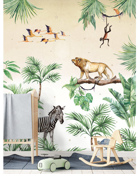 Behang King of the Jungle 4 X 2,8 meter