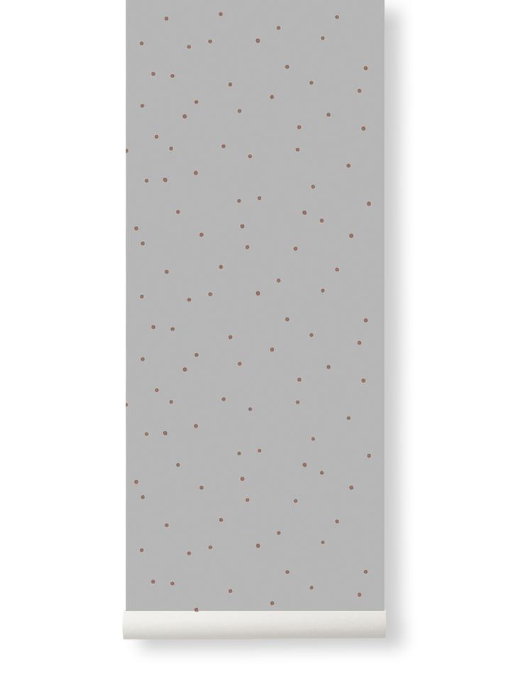 Ferm Living Behang Dot Grey