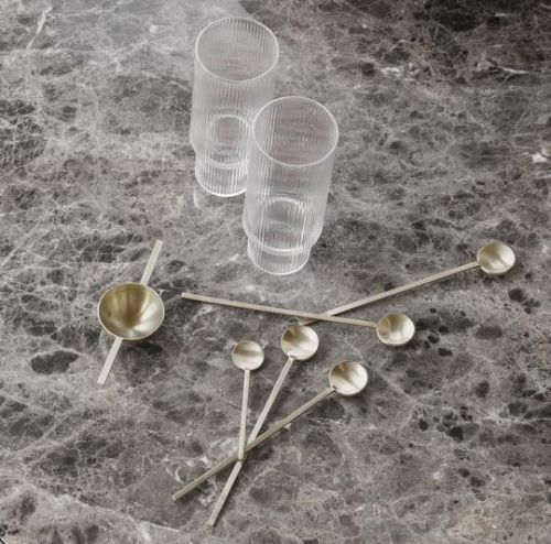 Ripple long drink glasses set of 4 clear