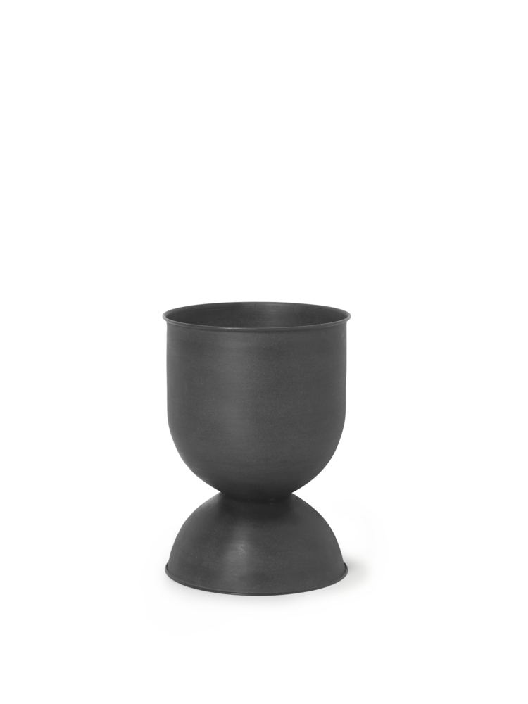 Hourglass pot small black