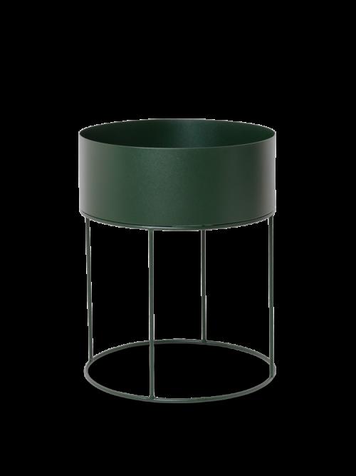 Plant box round dark green