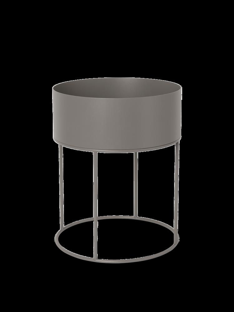 Plant box round warm grey