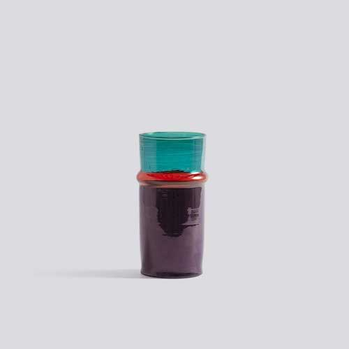 Morroccan vase small purple