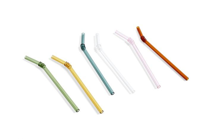 Hay Sip Swirl Glass Straws set of 6