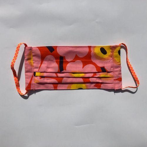 KECK & LISA Mondkapje Unico oranje/roze