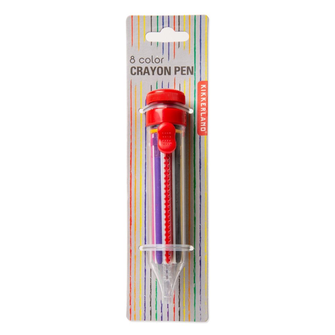 8 color crayon pen