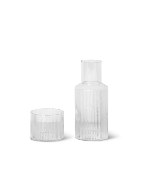 Ripple carafe set small clear