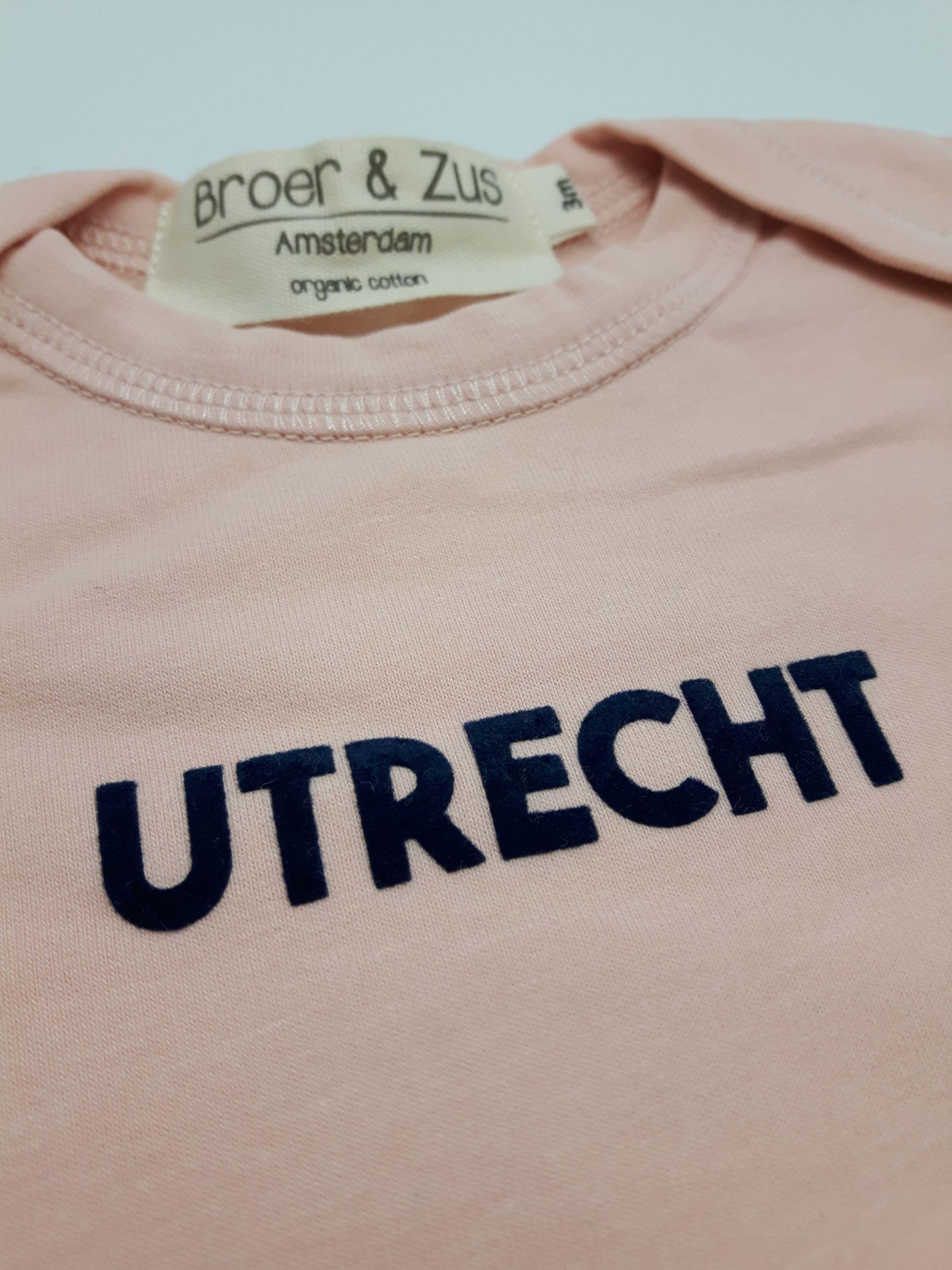 Baby romper Utrecht 2019 nude navy flock 3 maanden