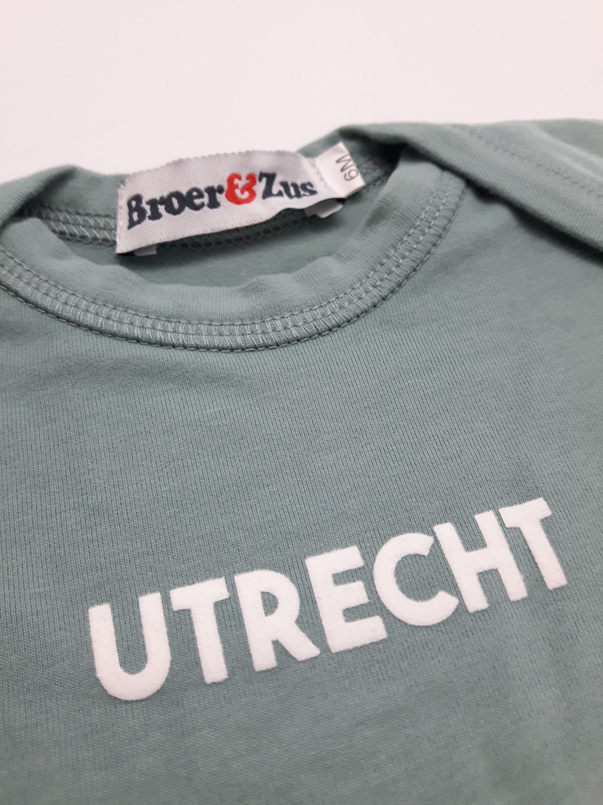 Baby romper Utrecht cactus white flock 6 maanden