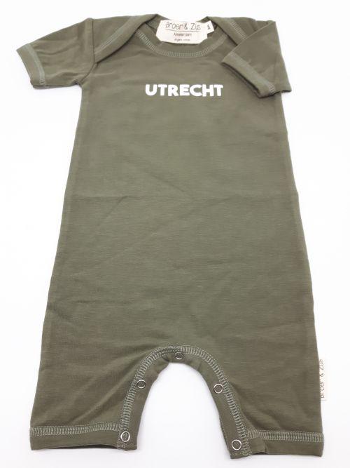 Baby romper Utrecht kaki white 3 maanden