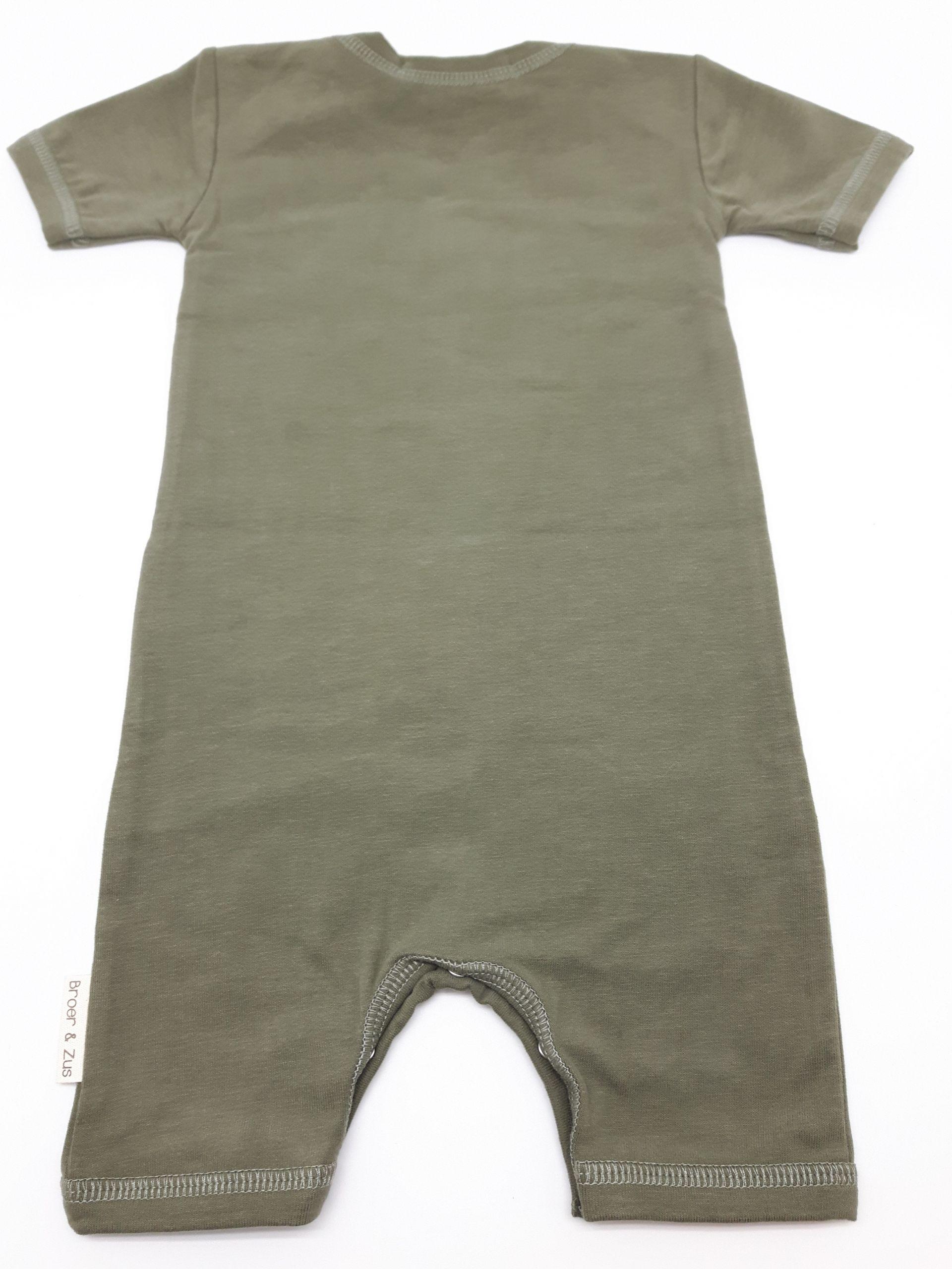 Baby romper Utrecht kaki white 6 maanden