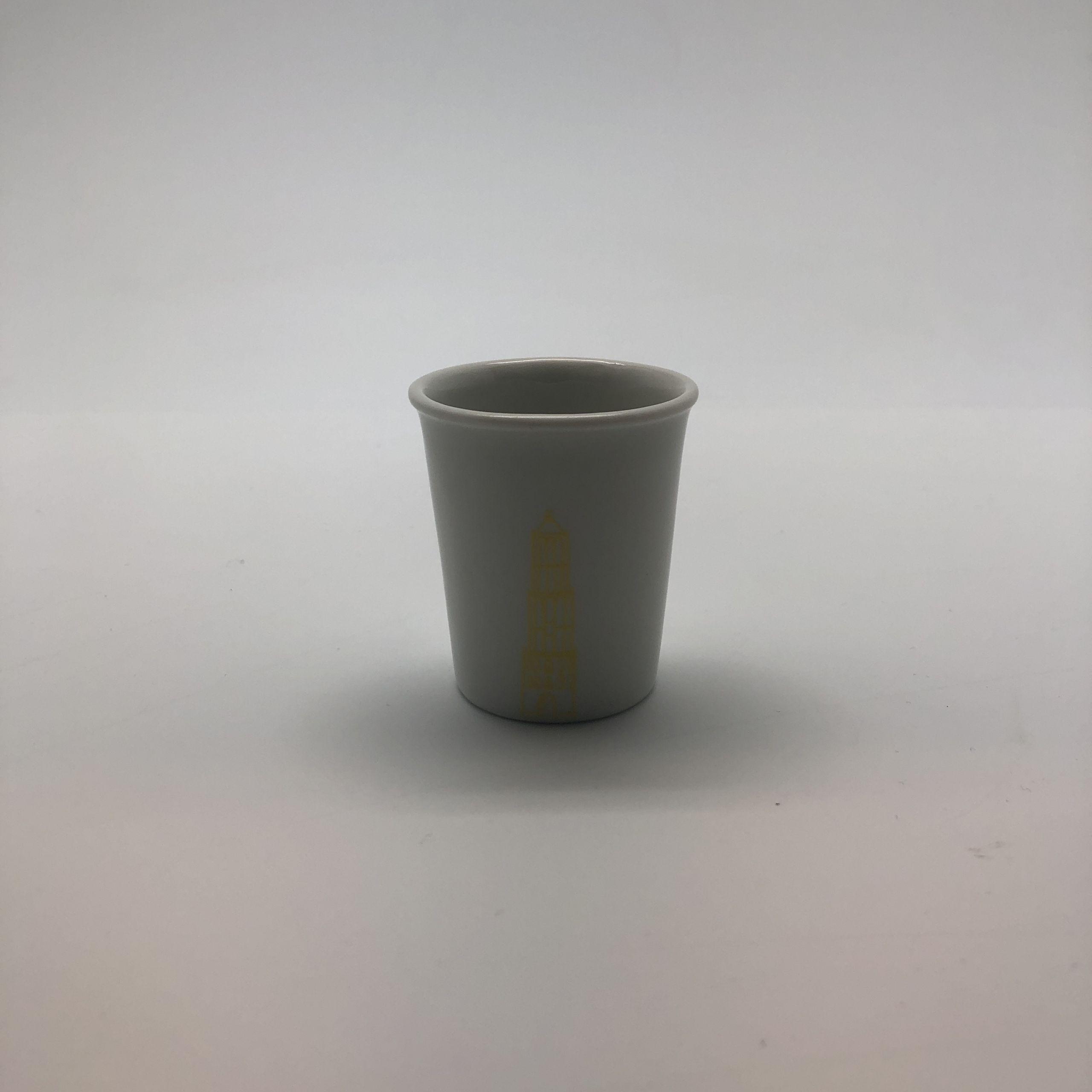 Espresso beker domtoren geel
