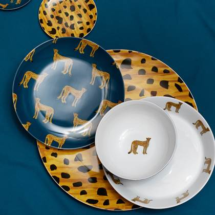 Dinner plate cheetah 27cm