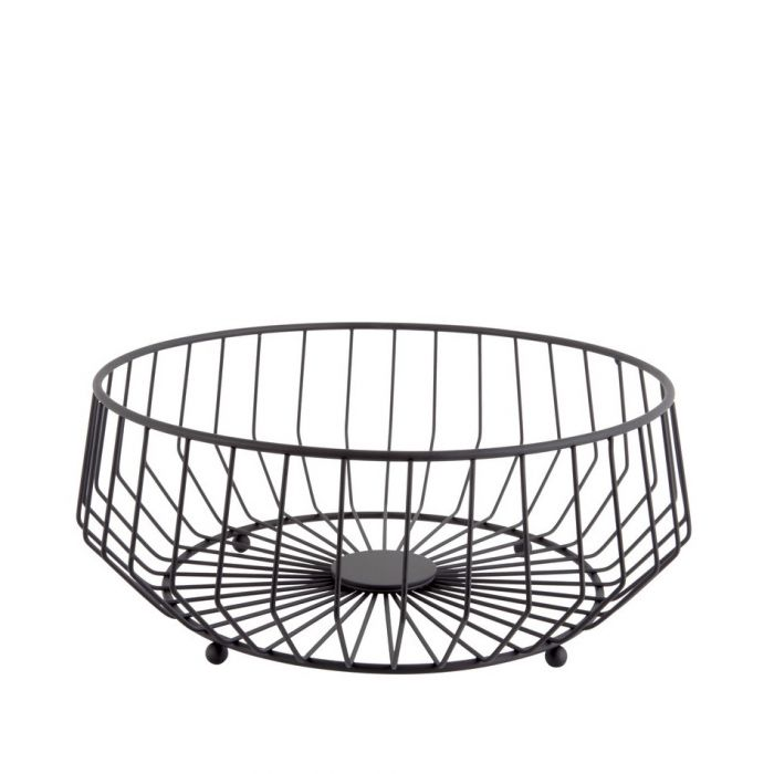 Fruit basket Linea Kink iron black