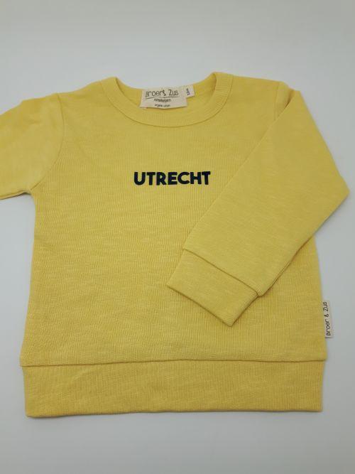 Sweater Utrecht Banana/navy 12 maanden