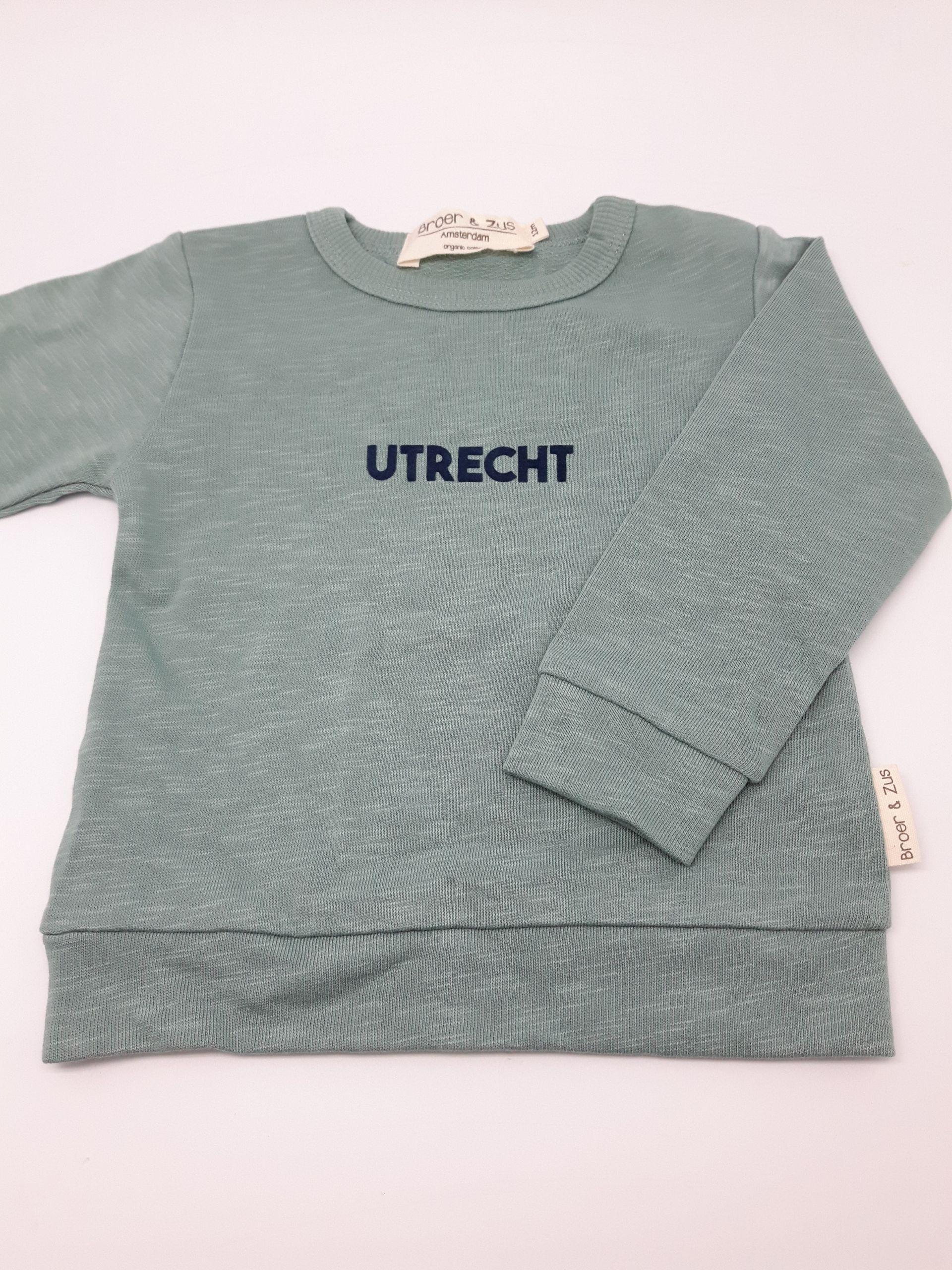 Sweater Utrecht cactus navy 12 maanden