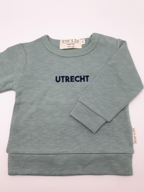 Sweater Utrecht cactus navy 6 maanden