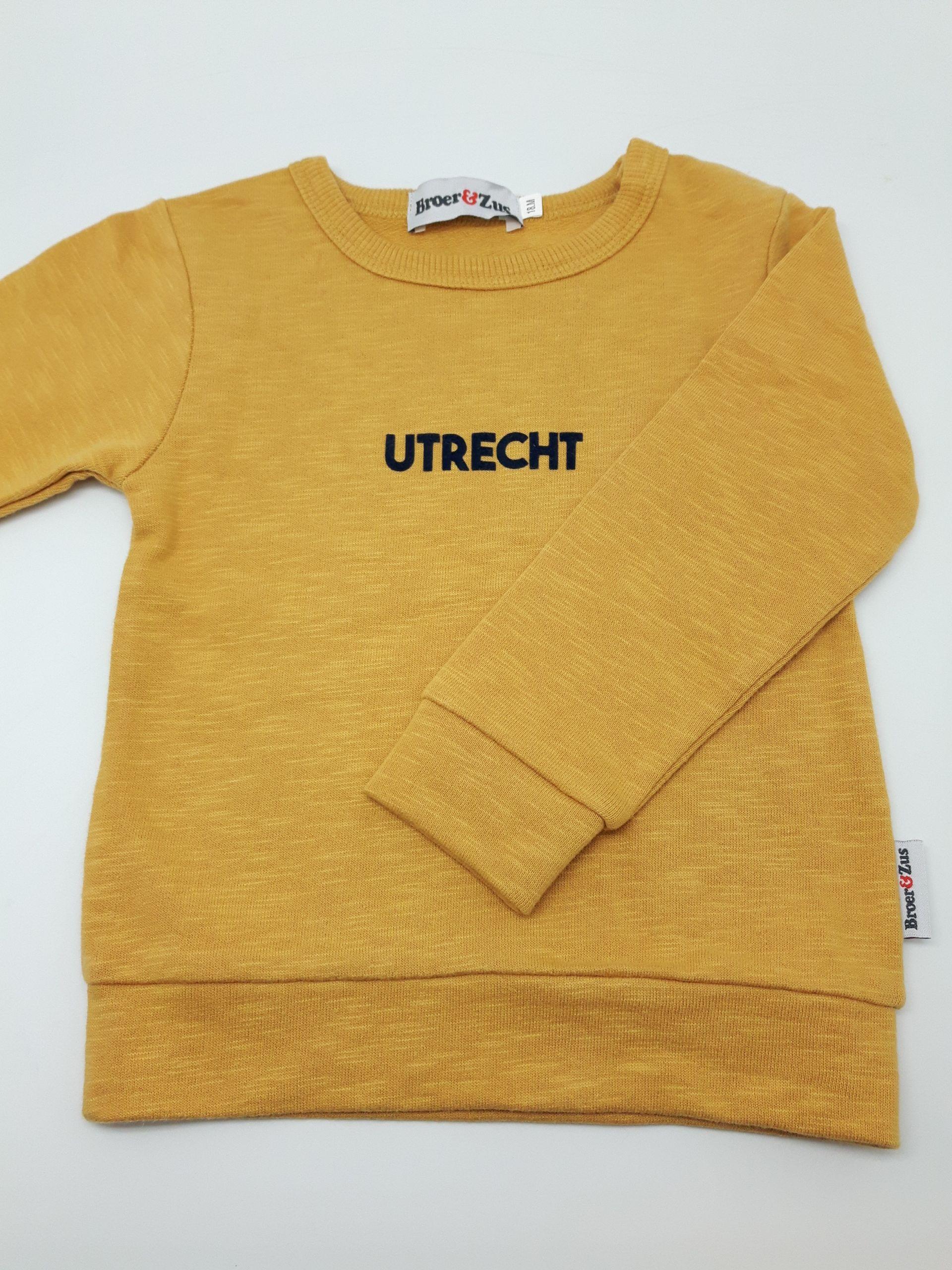 Sweater Utrecht mosterd navy flock 18 maanden