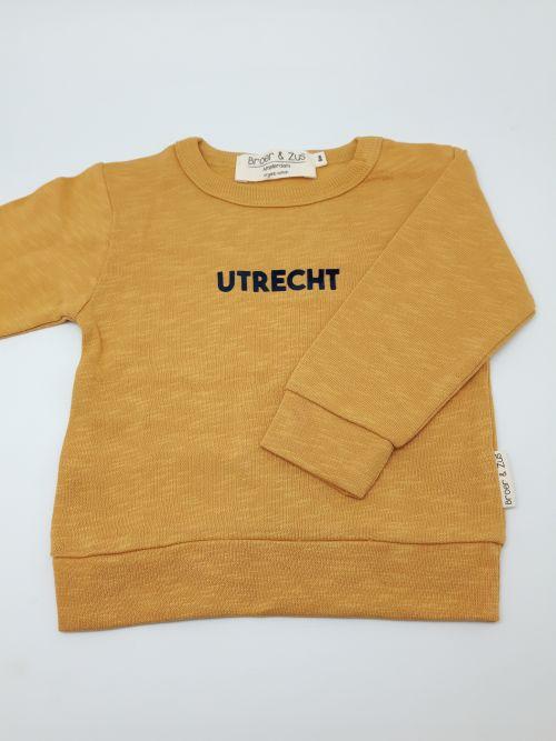 Sweater Utrecht mosterd navy flock 6 maanden