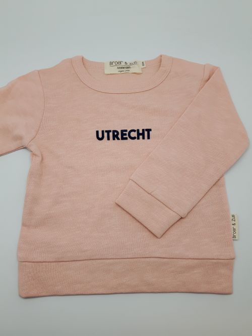 Sweater Utrecht nude navy flock 12 maanden