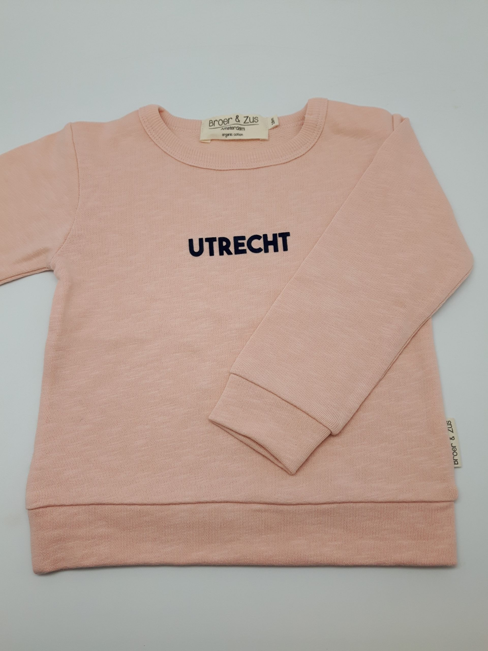 Sweater Utrecht nude navy flock 18 maanden